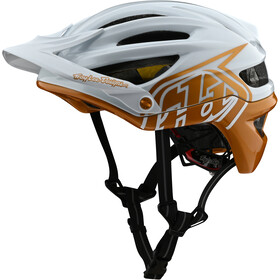Troy Lee Designs A2 MIPS casco per bici, decoy pearl white/gold